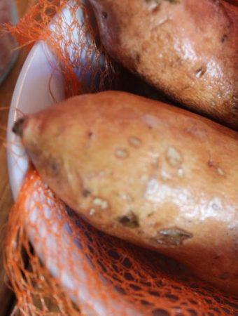 Sweet Potato Chips with Pink Himalayan Salt
