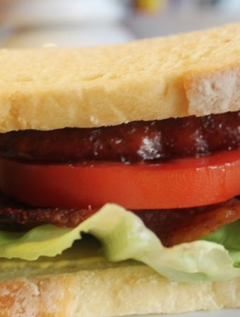 BLT Sandwich with Andouille Sausage