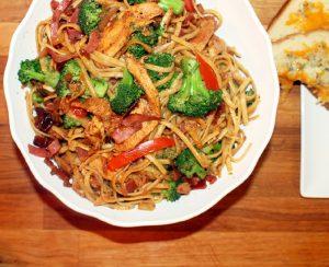 Pork Pasta with Chicken & Broccoli-Creole Contessa