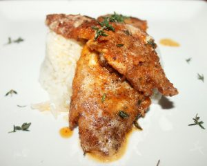 Creole Pan Fried Fish with Thyme Brown Butter Sauce-Creole Contessa