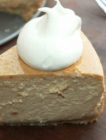 Sweet Potato Pie Cheesecake with Butter Pecan Crust