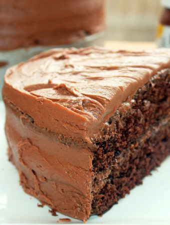Chocolate Cake with Nutella Buttercream Frosting