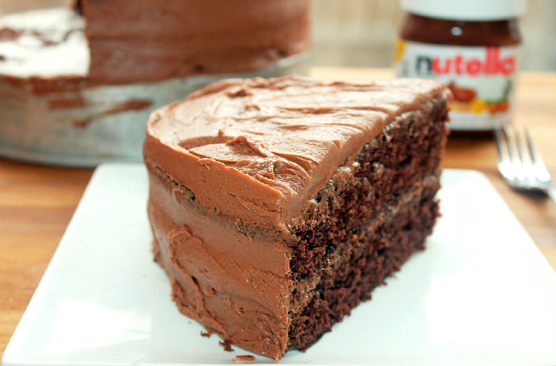 Chocolate Cake with Nutella Buttercream Frosting - Creole ...