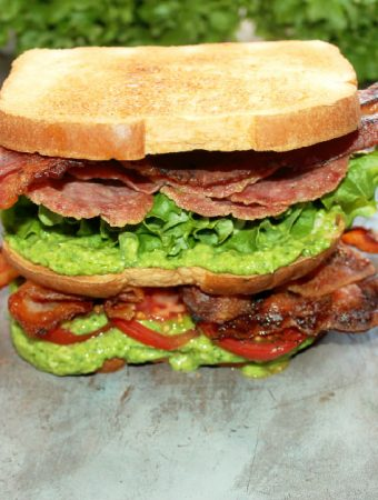 Italian BLT Sandwich with Spinach Pesto Mayo