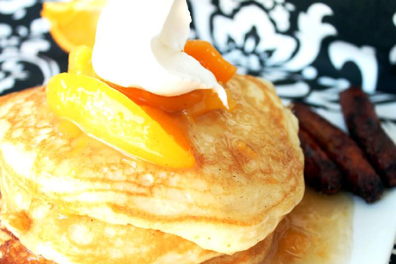 peach cobbler pancakes peach cobbler pancakes from peach cobbler ...