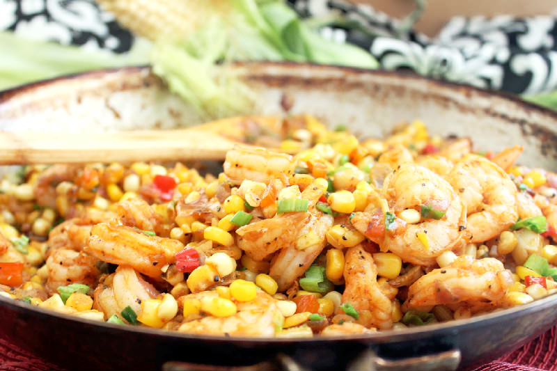 Creole Fried Corn with Shrimp! Cajun Week Day 1 - Creole