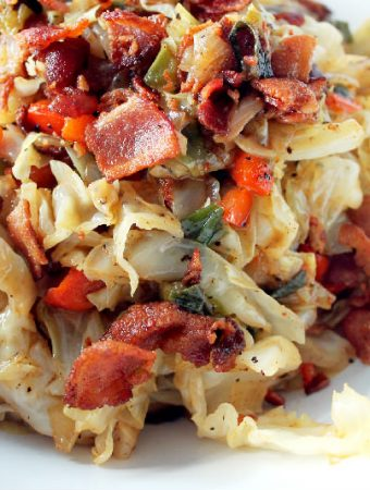 Smothered Cabbage with Bacon Cajun Week Day 3!
