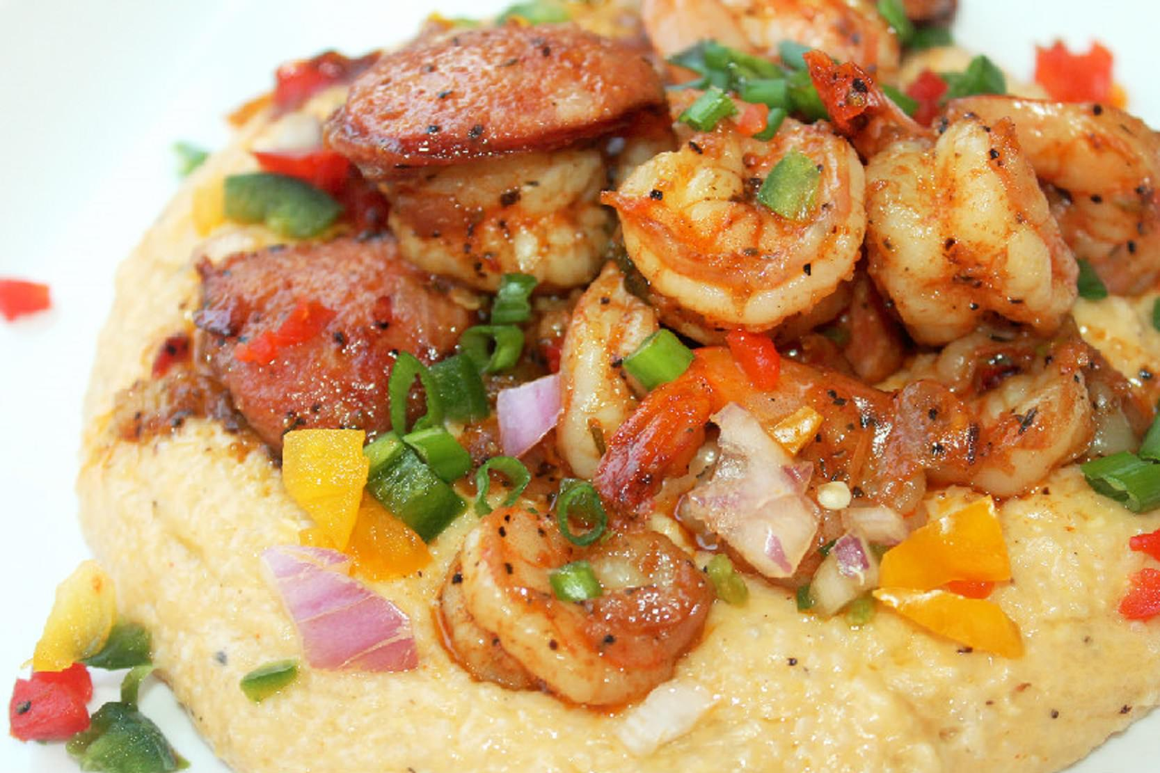 Creole Shrimp and Cheese Grits with Andouille Sausage ...