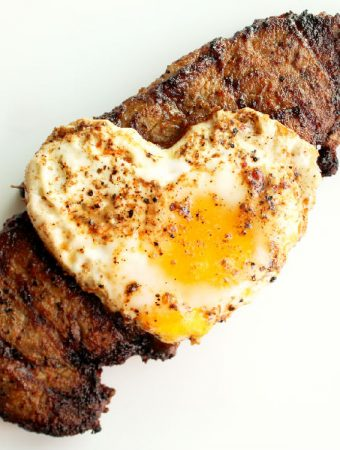 Pan Grilled Chipotle Steak and Eggs