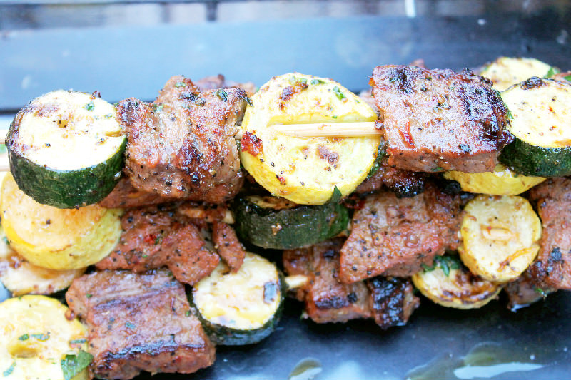 Grilled Chipotle Steak Kabobs with Chimichurri Sauce