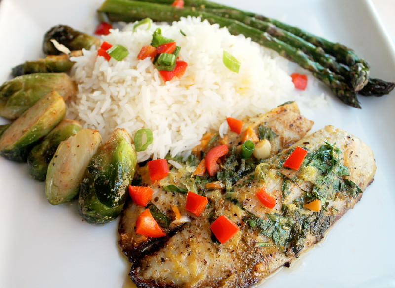 Pan Fried Fish Caribbean with Creole Roasted Vegetables -Creole Contessa