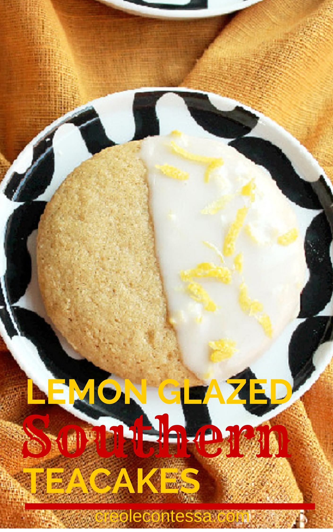 Lemon Glazed Southern Tea Cakes-Creole Contessa