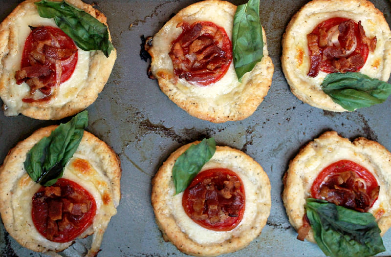 Tomato Tarts with Bacon and Cheese-Creole Contessa