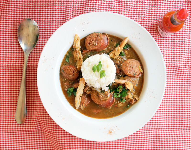 Smoked Chicken and Sausage Gumbo-Creole Contessa