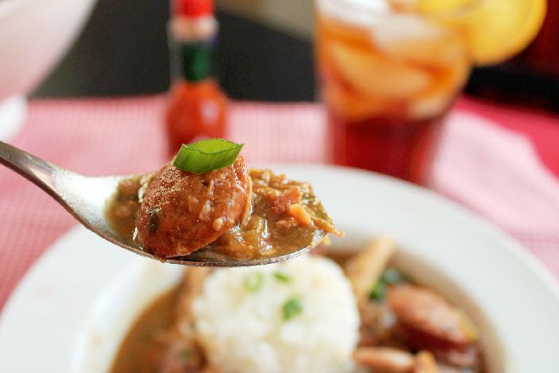 Smoked Chicken and Sausage Gumbo-Creole Contessa