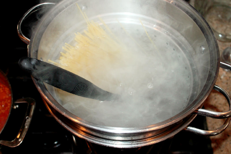 Spaghetti Casserole with Andouille Sausage-Creole Contessa