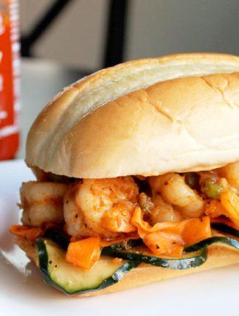 Shrimp Banh Mi with Spicy Sriracha Mayo