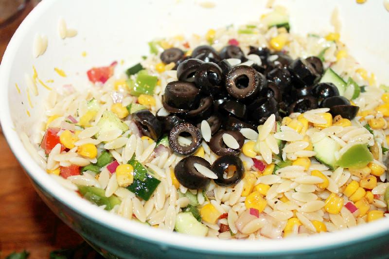 Orzo Pasta Salad with Oven Roasted Corn - Creole Contessa