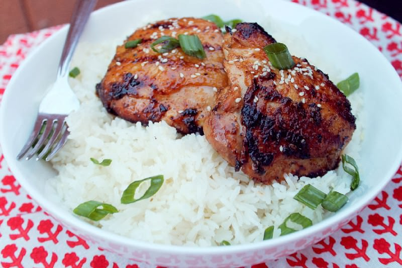 Grilled Sticky Coconut Chicken with Sweet Rice-Creole Contessa