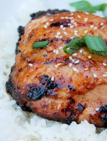 Grilled Sticky Coconut Chicken with Sweet Rice