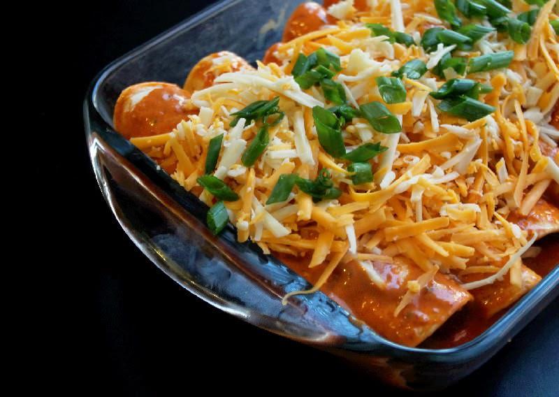 Easy Chicken and Cheese Enchiladas-Creole Contessa