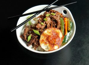 Korean Bulgogi Steak with Fried Egg-Creole Contessa