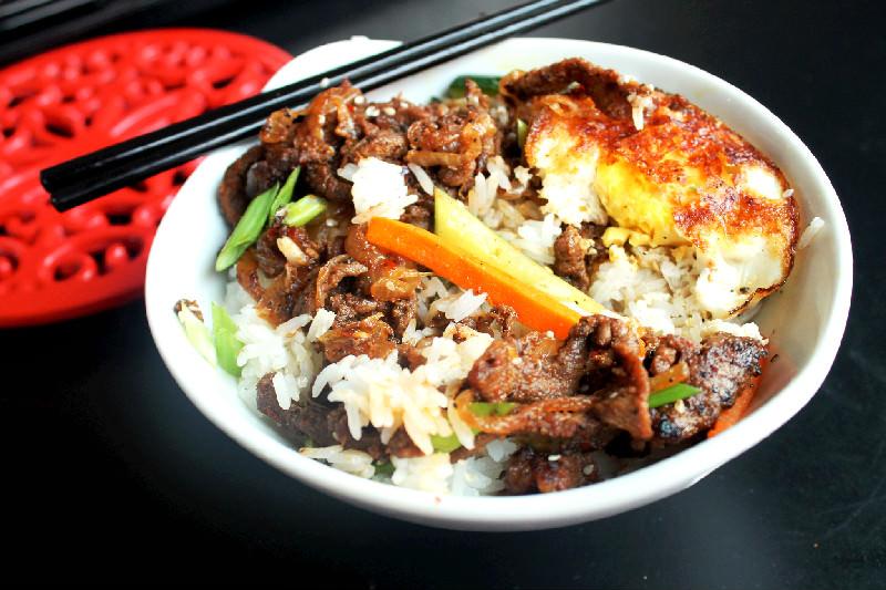Korean Bulgogi Steak with Fried Egg-Creole Contessa