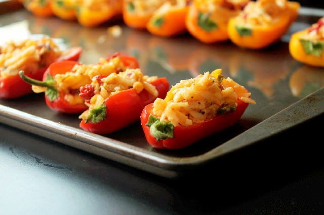Cheese Stuffed Baby Peppers with Jack and Havarti-Creole Contessa