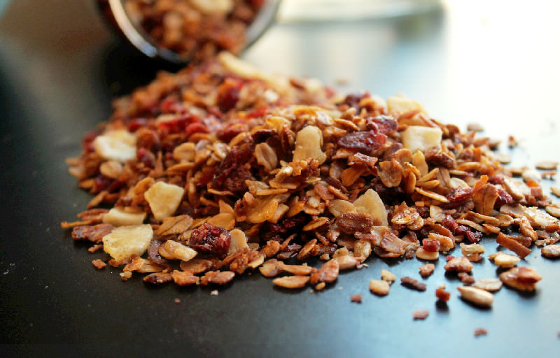 Pecan Coconut Granola with Zulka Morena Pure Cane Sugar