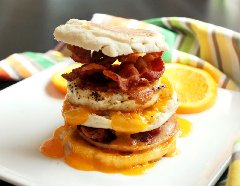 Egg McMuffin with Bacon and Turkey-Creole Contessa