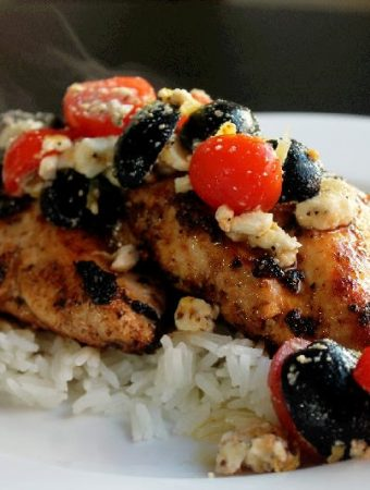 Greek Chicken with Feta Olives and Tomatoes