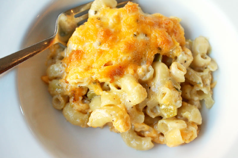 Roasted Green Chile Mac and Cheese-Creole Contessa
