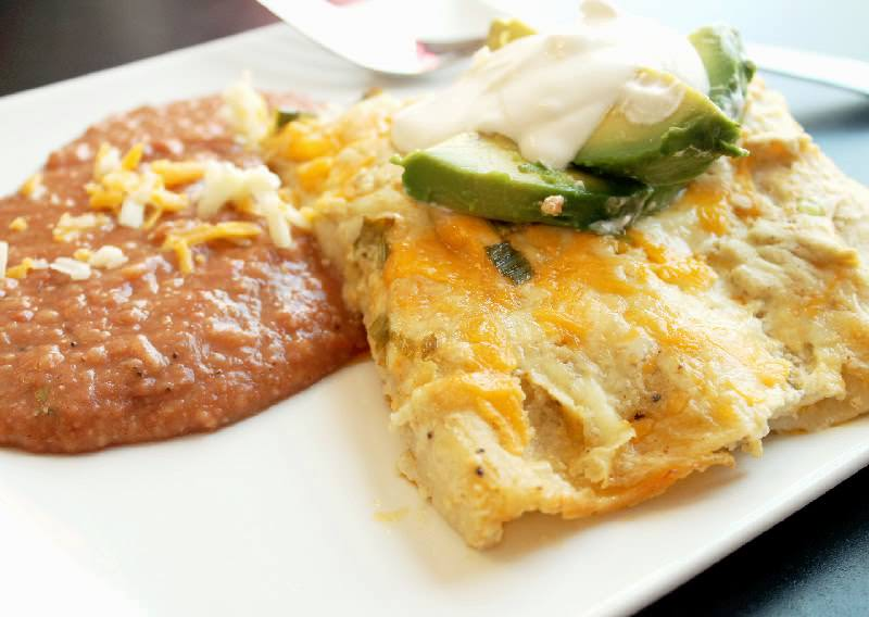 White Chicken Enchiladas-Creole Contessa