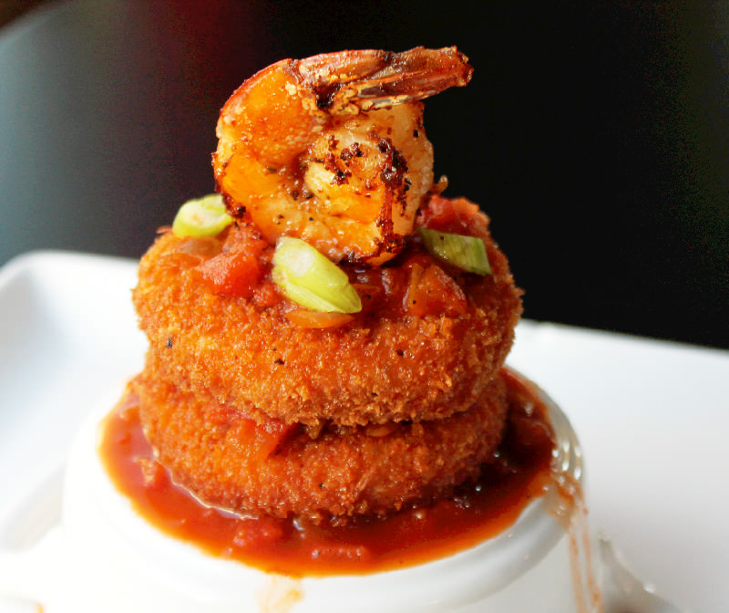 Shrimp and Grit Cakes with Creole Sauce - Creole Contessa
