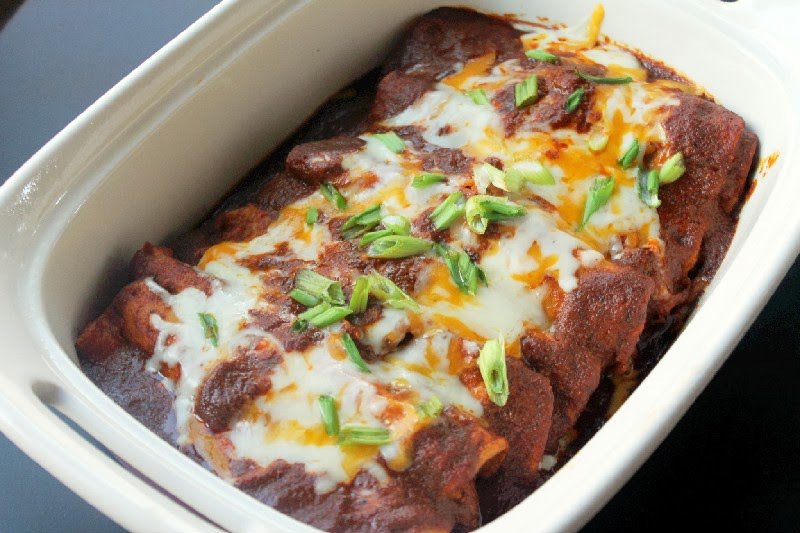 Chicken Enchilada with Chili Gravy