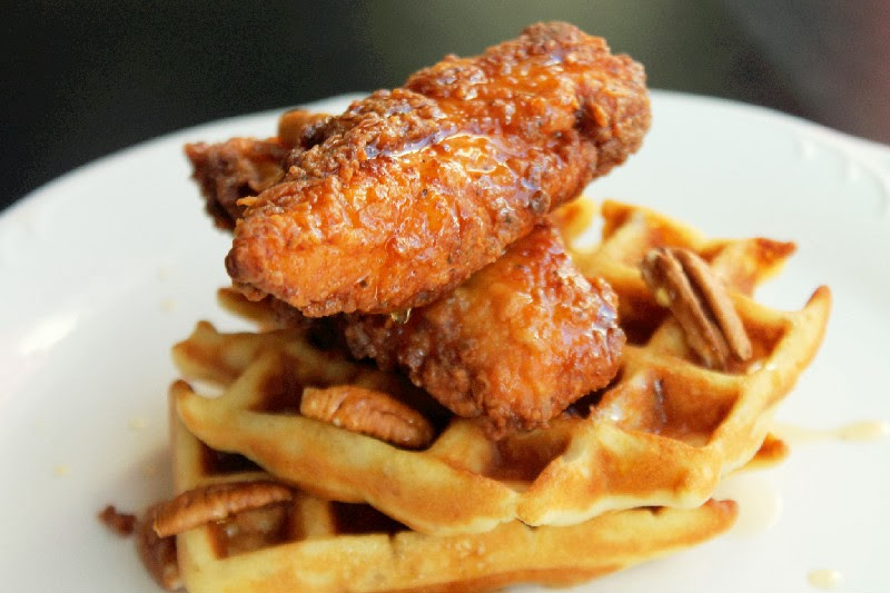 ... thing came to my mind…Chicken and Buttermilk Waffles with Pecans