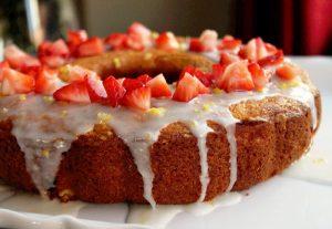 Strawberry Lemon Pudding Cake-Creole Contessa