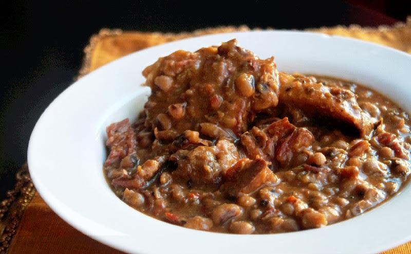 Slow Cooker Black Eyed Peas With Ham Hocks Creole Contessa