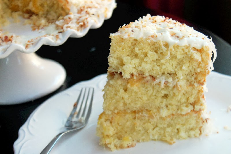 Cake Recipe Light And Fluffy: Toasted Coconut Pineapple Cake And A Vitamix Giveaway