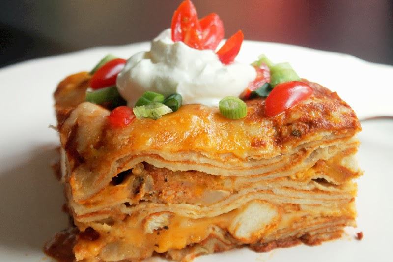 Easy Chicken Enchilada Casserole-Creole Contessa