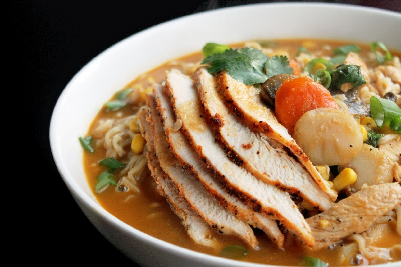 Roasted Chicken Ramen Noodle Soup - Creole Contessa