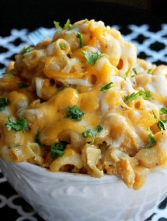 Slow Cooker Macaroni and Cheese with Four Cheeses