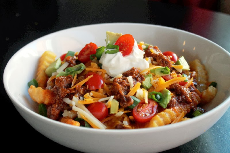 Slow Cooker Chili Cheese Fries- Creole Contessa