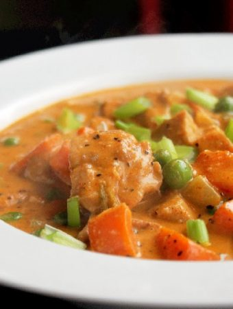 Roasted Chicken Soup Creole Style