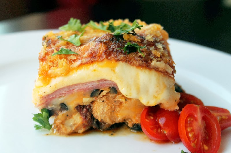 ... dig in! Look at the cheese…this is pure comfort food at its best