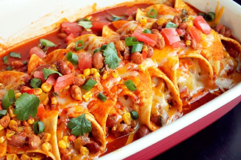 baked vegetable enchiladas Archives - Creole Contessa