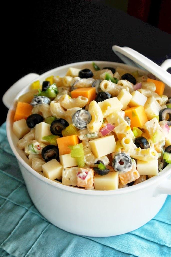 Cheesy Picnic Pasta Salad - Creole Contessa
