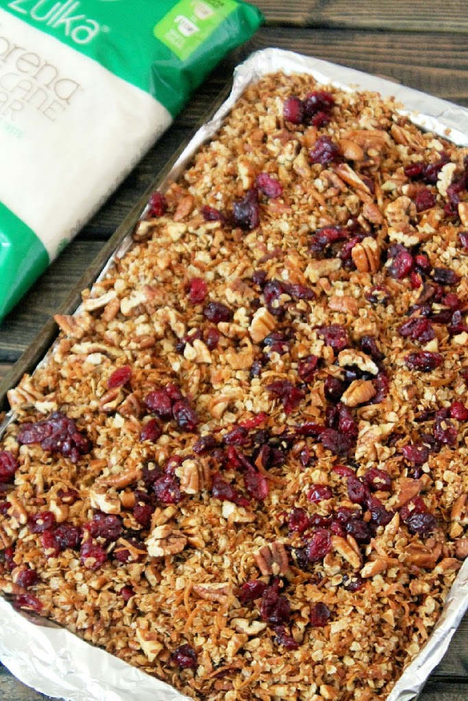 Allow the granola to cool for about 30 minutes, then stir in the dried ...