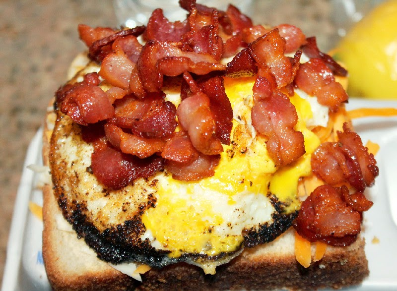 Bacon Egg and Cheese Grilled Cheese Sandwich - Creole Contessa