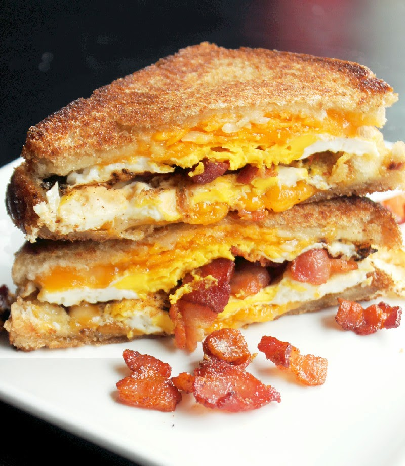 Bacon Egg and Cheese Grilled Cheese Sandwich